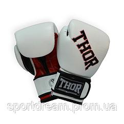 Перчатки боксерские THOR RING STAR 10oz /PU /бело-красно-черные