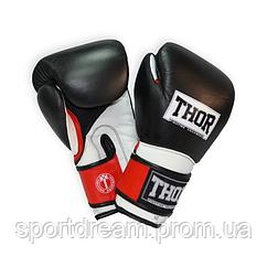 Перчатки боксерские THOR PRO KING 10oz /PU /черно-красно-белые
