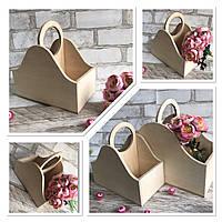 Декоративний ящик із дерева на 2 відділи, 26х30х16 см., 190/160 (ціна за 1 шт. + 30 гр)