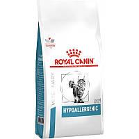 Royal Canin Hypoallergenic Feline сухой лечебный корм для кошек при пищевой аллергии 2,5КГ