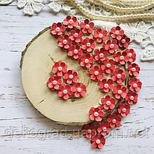 Цветы Незабудки 15мм Красные