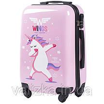 Детский пластиковый чемодан для девочки с единорогом для ручной клади S, фото 3