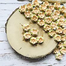 Цветы Незабудки 15мм Персиковые
