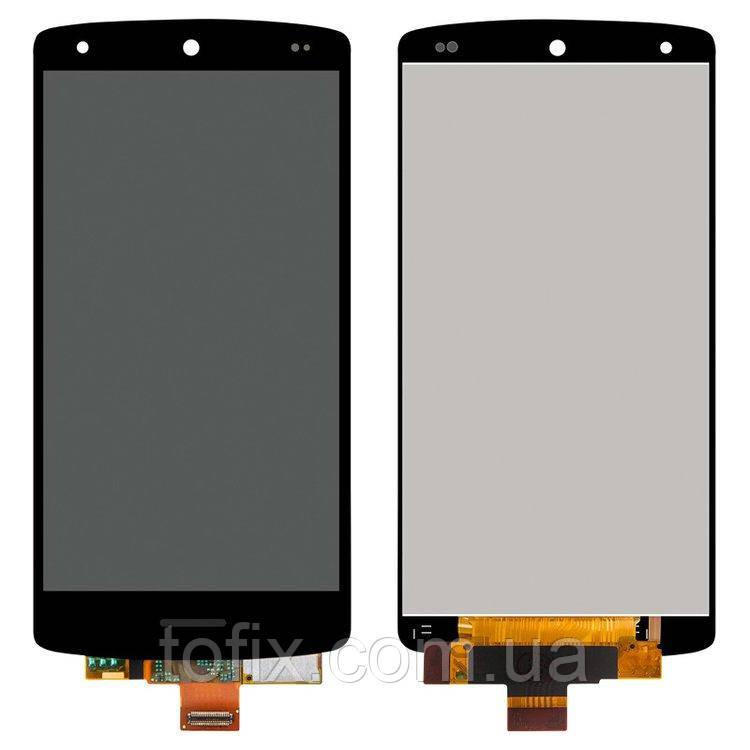 Дисплей для LG Google Nexus 5 D820, D821, D822, модуль в сборе (экран и сенсор), черный, оригинал