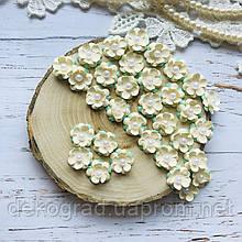 Цветы Незабудки 15мм Кремовые