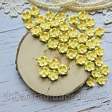 Цветы Незабудки 15мм Светло-желтые