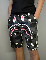 Шорты Bape Shark Camo Black (светится пятнами), фото 2