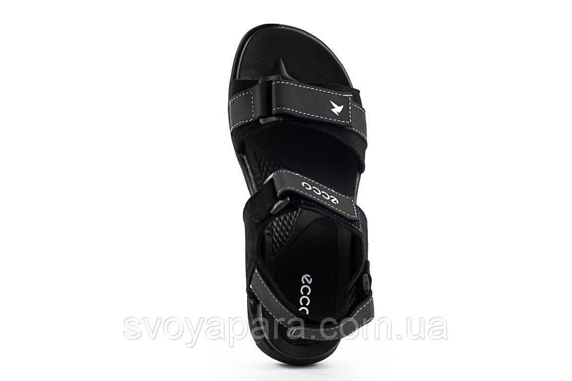 Подростковые сандали кожаные летние черные Monster Biom Е-черн