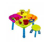 Столик песочный с набором и стульчивом 01-121