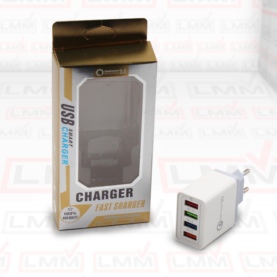 Адаптер на 4 USB с поддержкой QC 3.0, Fast Charge, D22