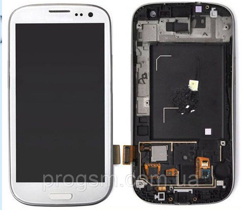 Дисплей Samsung Galaxy S III GT-I9300 Original complete with frame White 100%