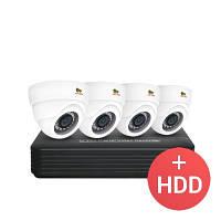 2.0MP Набор для помещений AHD-45 4xCAM + 1xDVR + HDD 1 ТB PARTIZAN