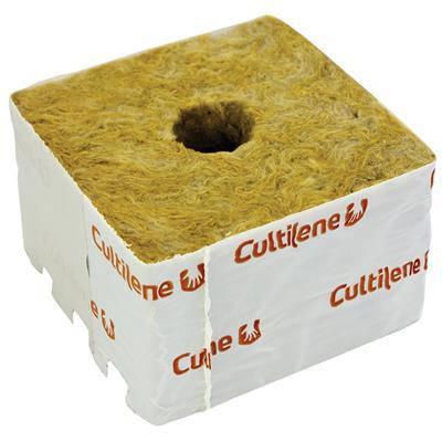 Кубики мінеральної вати Cultilène 10х10см c маленьким отвором 28/35мм, фото 2