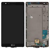Дисплей для LG X Power K220DS (LS755, US610), модуль в сборе (экран и сенсор), с рамкой, оригинал