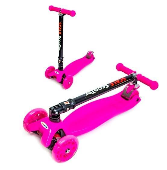 Детские самокаты   Спортивный самокат   Детский самокат Maxi со складной ручкой Pink