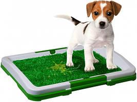 Лоток для собак с травой Puppy Potty Trainer Pad зелёный