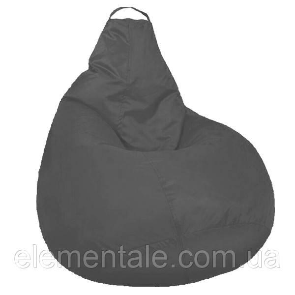 Бескаркасное мягкое Кресло мешок Груша Пуф для взрослых XXL 130х100см Серый пуфик