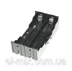 Відсік для батарей 18650*2шт (без захисту), контакт-пластина, Китай