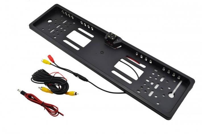 Рамка номерного знака с камерой заднего вида UKC H88  с 4+16 LED подсветкой, фото 2