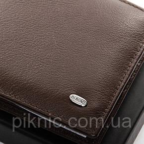 Кожаный мужской кошелек Dr Bond на магните, зажим для денег. Портмоне из натуральной кожи. Коричневый, фото 2