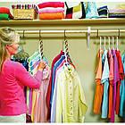 [ОПТ] Вішалка оргонайзер в шафу для одягу універсальна складна біла Wonder hanger, фото 3