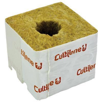 Кубики минеральной ваты Cultilène 7,5x7,5см c маленьким отверстием 28/35мм, фото 2