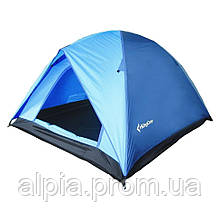 Трехместная палатка KingCamp Family 3 синяя