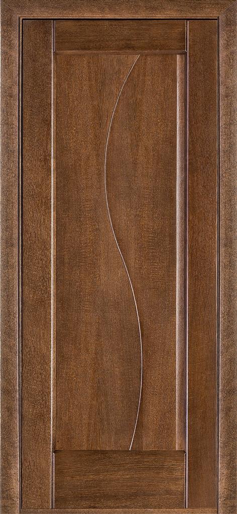 Дверь межкомнатная Terminus Модель 16 Дуб браун цвет (глухая)