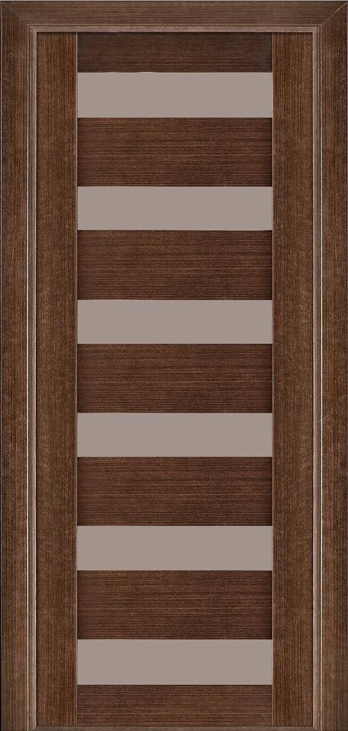 Дверь межкомнатная Terminus Модель 136 цвет Венге (застекленная)