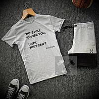 Комплект Футболка + Шорты Palm Angels x grey мужские | спортивный костюм летний, фото 1