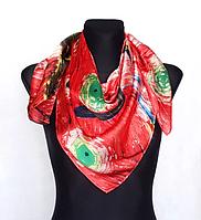 Шовковий хустку Fashion Зоряна ніч 90*90 см репродукція картини Ван Гога червоний