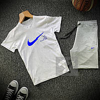 Комплект Футболка + Шорты Nike SB x white-grey мужские   спортивный костюм летний, фото 1