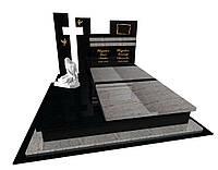 Пам'ятник надгробний гранітний на двох Елітний0210/ Е