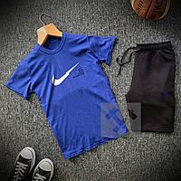 Комплект Футболка + Шорты Nike SB x blue-black мужские | спортивный костюм летний, фото 1