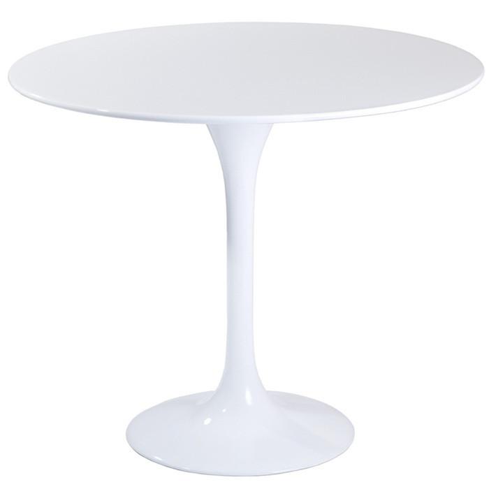 Стіл Тюльпан білий круглий