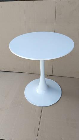 Стіл Тюльпан білий круглий, фото 2
