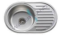 Мойка кухонная овальная из нержавеющей стали ZEGOR MD-7750L/R