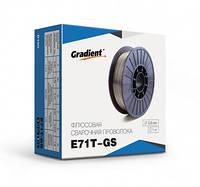 Проволока флюсовая E71T-GS ф0,8мм (1кг) самозащитная Gradient