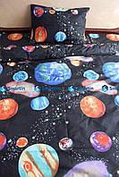 Детское постельное белье полуторное Космос (бязь, 100% хлопок)