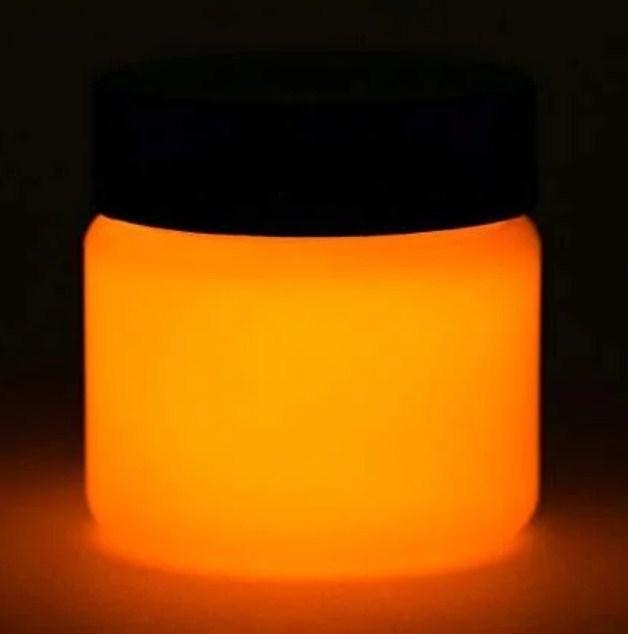 Светящийся порошок люминесцент оранжевый в темноте и на свету Люминофор Просто и Легко 50г SKL12-241360
