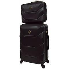 Комплект валіза і кейс Bonro 2019 (середній) чорний