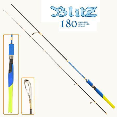 Телескопічний спінінг Blitz 2.1 м 5-20 г вудка вудилище