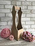 Ящик під пляшку вина, дерево і фанера, 38х17х17.5с, 180/150 (ціна за 1 шт. + 30 гр), фото 3