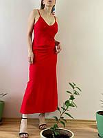Сарафан льняной красный DRS1x6 S, фото 1