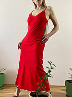 Сарафан льняной красный DRS1x6 L, фото 1