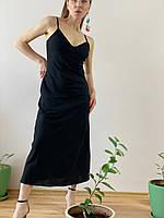 Сарафан льняной черный DRS1x1 L, фото 1