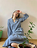 Платье льняное серое DRS2x4 S, фото 1