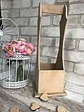 Ящик під пляшку вина, дерево і фанера, 38х17х17.5с, 180/150 (ціна за 1 шт. + 30 гр), фото 5