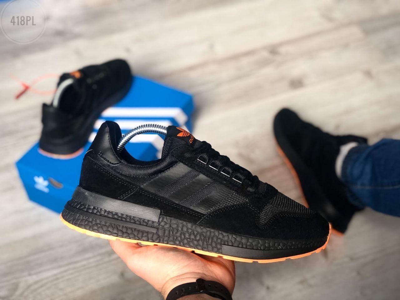 Чоловічі кросівки Adidas Black/Orange 418PL