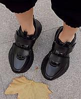 Женские кроссовки SOFIMARAT Чёрные на липучках 36 размер(22,5см-23см)